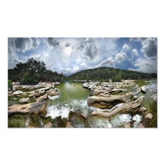 Sculpture Falls 5 - Barton Creek in Austin Texas Art Photo