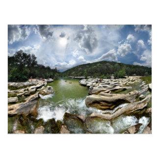 Sculpture Falls 5 - Barton Creek in Austin Texas Postcard