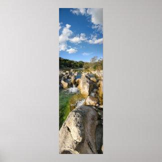 Sculpture Falls Barton Creek in Austin Texas 3 Posters