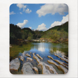 Sculpture Falls Barton Creek in Austin Texas Mouse Pad