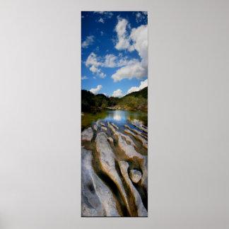 Sculpture Falls Barton Creek in Austin Texas Poster