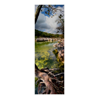 Sculpture Falls Calm -Barton Creek - Austin Texas Poster