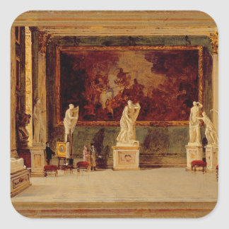 Sculpture Gallery at the Pitti Palace, Florence (o Square Sticker