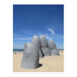 sculpture hand postcard