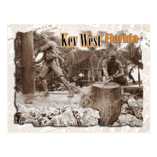 Sculpture in Key West Florida Post Card