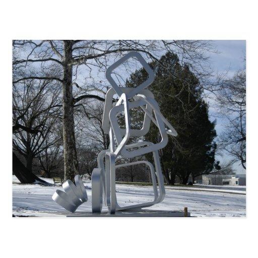 Sculpture In Mellon Park, Pittsburgh PA Postcard