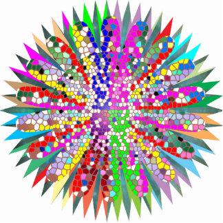 Sculpture Mandala Graphics Blue Decoration
