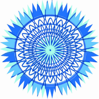 Sculpture Mandala Graphics Blue Decoration