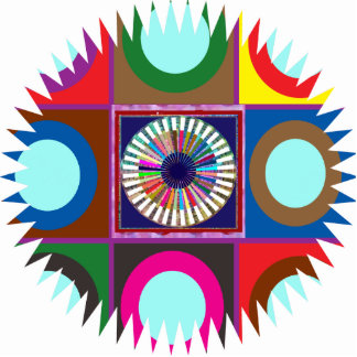 Sculpture Moon Stars Graphics Colorful Decorations
