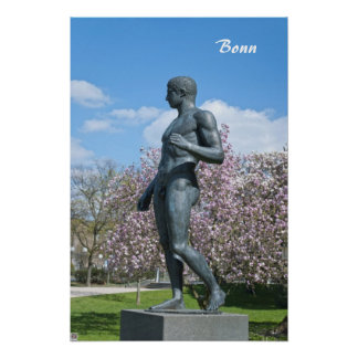 Sculpture near Academic Art Museum in Bonn Poster