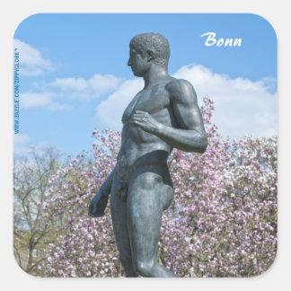 Sculpture near Academic Art Museum in Bonn Square Sticker