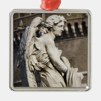 Sculpture of Angel with garment and dice on Sant Metal Ornament