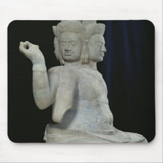 Sculpture of Brahma with four faces Mouse Pad