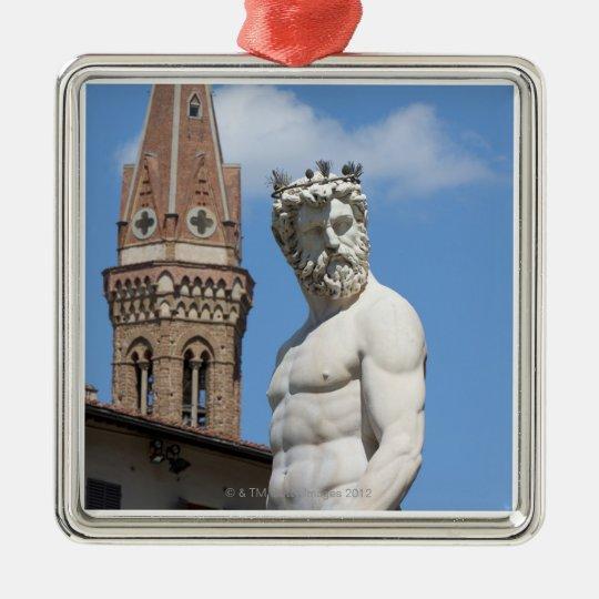 sculpture of Neptune on Fontana di Nettuno Metal Ornament