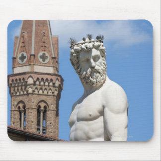 sculpture of Neptune on Fontana di Nettuno Mouse Pads
