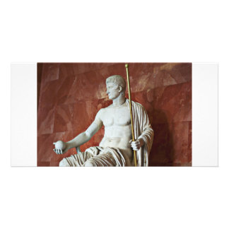 Sculpture of Roman man with ball and Staff Card