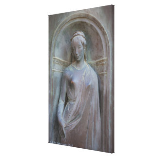 Sculpture on the Duomo in Siena, Italy. Canvas Print