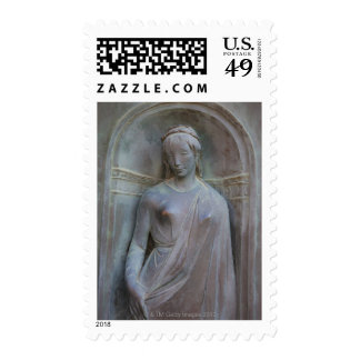 Sculpture on the Duomo in Siena, Italy. Postage Stamps