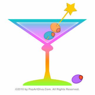 Sculpture, Pin, Ornament - Retro Rainbow Martini