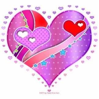 Sculpture, Pin - Pink Heart, Valentine Cutout