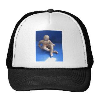 sculpture raku homme casquette de camionneur