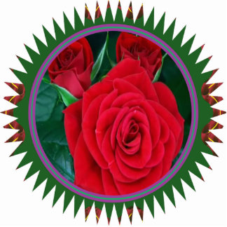 Sculpture RedRose Flower Floral Decorations