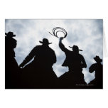 sculpture that welcomes you to Dodge City Kansas 2 Greeting Card