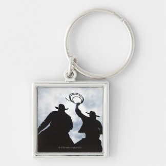 sculpture that welcomes you to Dodge City Kansas 2 Keychain