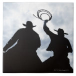 sculpture that welcomes you to Dodge City Kansas 2 Large Square Tile