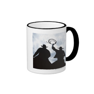 sculpture that welcomes you to Dodge City Kansas 2 Ringer Coffee Mug
