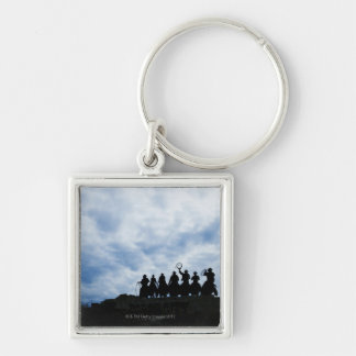 sculpture that welcomes you to Dodge City Kansas Keychain