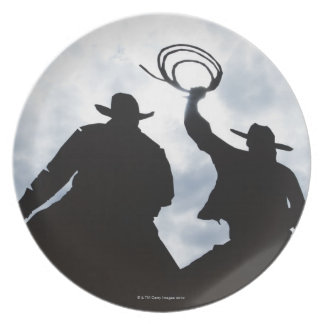 sculpture that welcomes you to Dodge City Kansas Melamine Plate