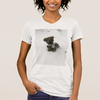 sculpture/tree branch peering out from the snow T-Shirt