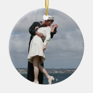 Sculpture Unconditional Surrender in San Diego Ceramic Ornament