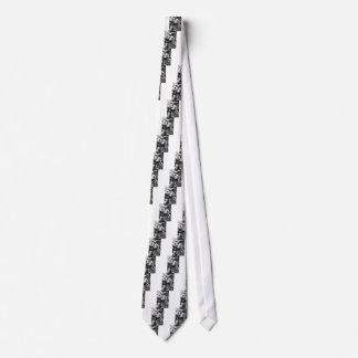 Sculptured angel neck tie