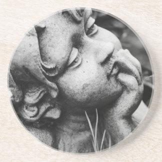 Sculptured angel sandstone coaster
