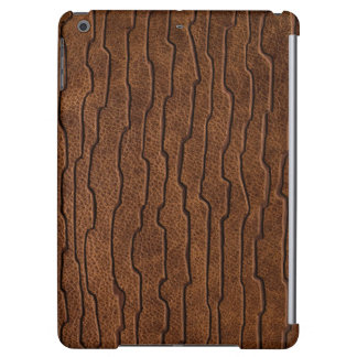 Sculptured Brown Leather Print Case For iPad Air
