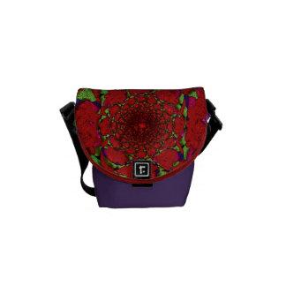 Sculptured Shag Carpet Messenger Bag