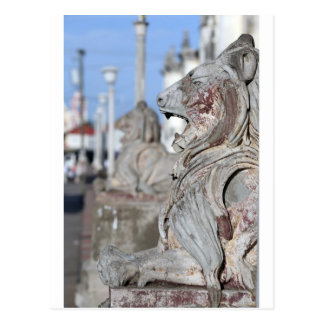 Sculptured stone lions of Leon, Nicaragua Post Cards