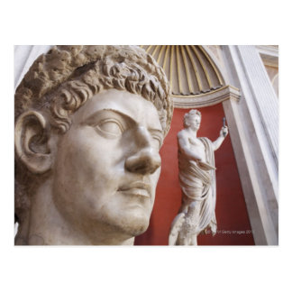Sculptures inside Vatican Museum, Vatican City, 3 Post Card