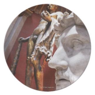 Sculptures inside Vatican Museum, Vatican City, Dinner Plate