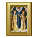 Sculptures of St Clare and St Francis Assisi Post Card