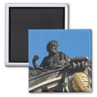 Sculptures on the Royal Art Academy, Dresden 2 Inch Square Magnet