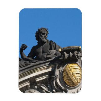 Sculptures on the Royal Art Academy, Dresden Rectangular Photo Magnet