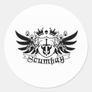 Scumbag Crest Classic Round Sticker