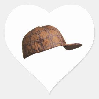 Scumbag Hat Heart Sticker