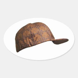 Scumbag Hat Oval Sticker
