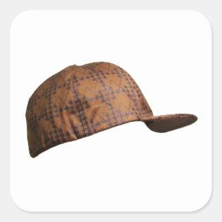 Scumbag Hat Square Sticker