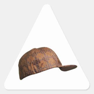Scumbag Hat Triangle Sticker