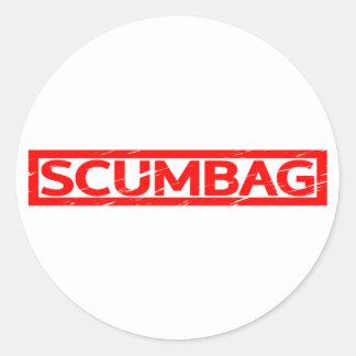 Scumbag Stamp Classic Round Sticker